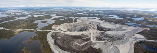 Το ορυχείο Ekati της Dominion Diamond στον Καναδά.